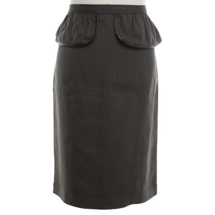 Burberry skirt in dark green / black
