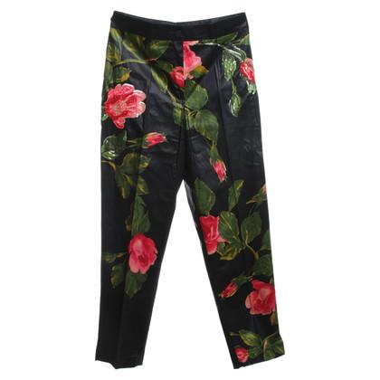 Blumarine Pantaloni con un motivo floreale