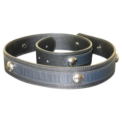 Versace Leather belt with metal buckle