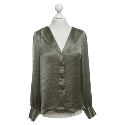 Theory Blouse in Olive