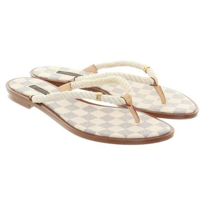 Louis Vuitton sandali infradito in beige
