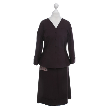 Antonio Marras Blazer with skirt in brown with white pinstripes