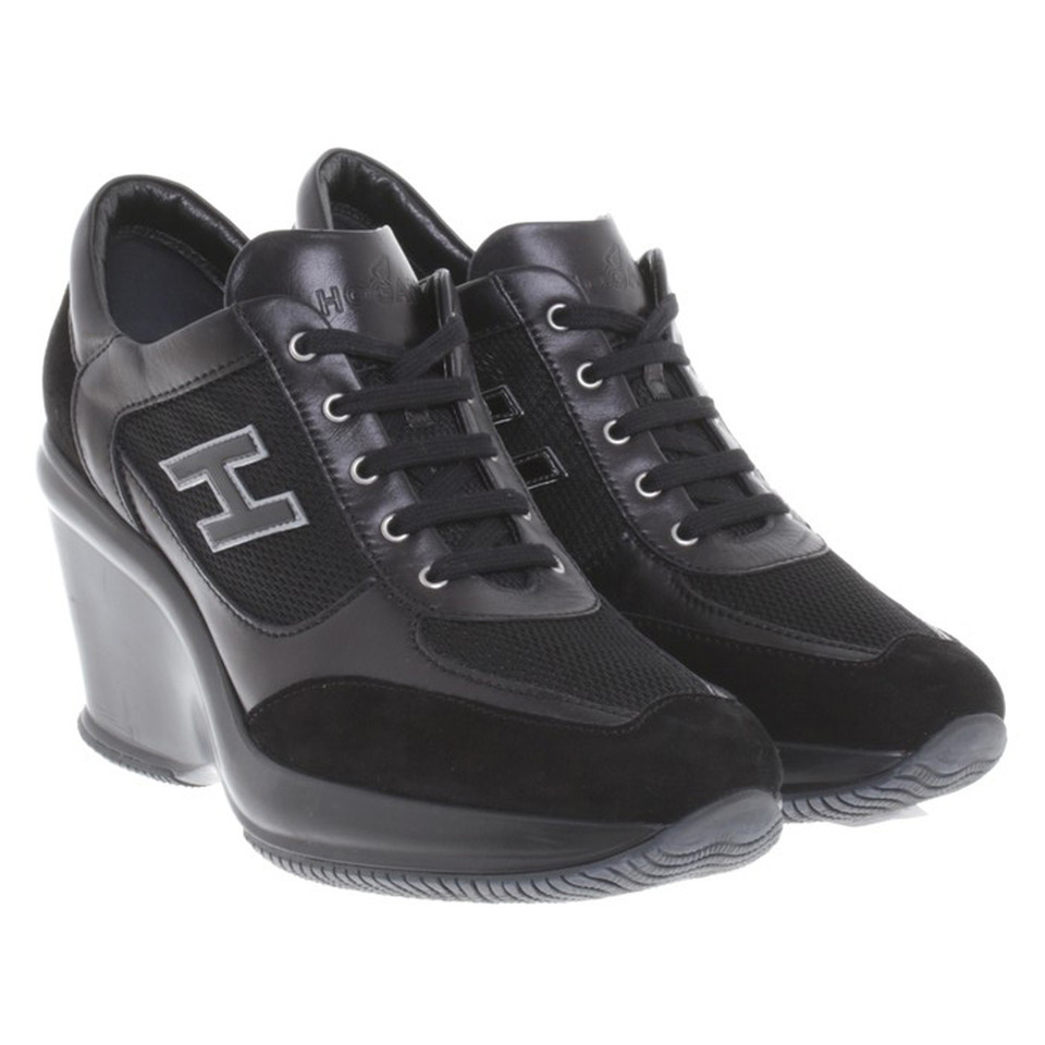 hogan sneakers mit keilabsatz second hand hogan sneakers. Black Bedroom Furniture Sets. Home Design Ideas