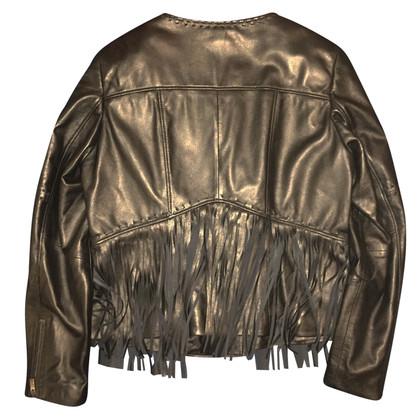 Thomas Rath Nappa veste de motard en cuir