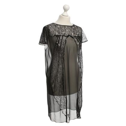 Maje Kanten jurk in zwart