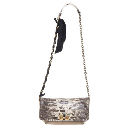 Lanvin Shoulder bag with reptile leather