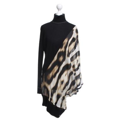 Roberto Cavalli top from mixed fabrics