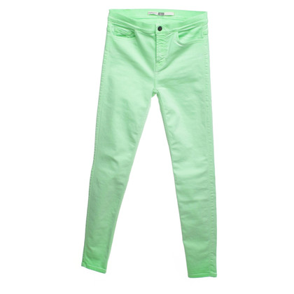 7 For All Mankind Skinny Jeans in Neon-Grün