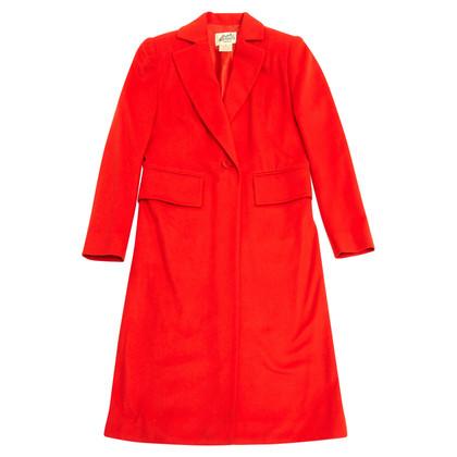 Hermès Mantel in Rot-Orange
