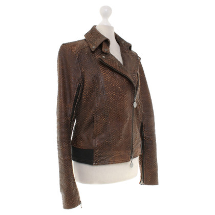 Patrizia Pepe Leather jacket in brown
