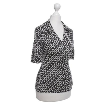 Diane von Furstenberg Wickel-Shirt mit Muster