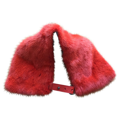 Fendi Red Mink Neck
