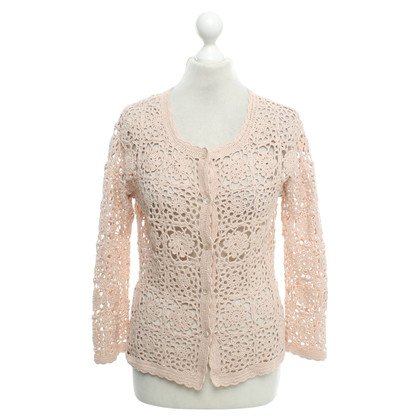 Hemisphere nude coloured Crochet jacket