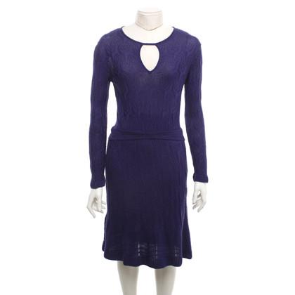 Missoni Knit dress in dark purple