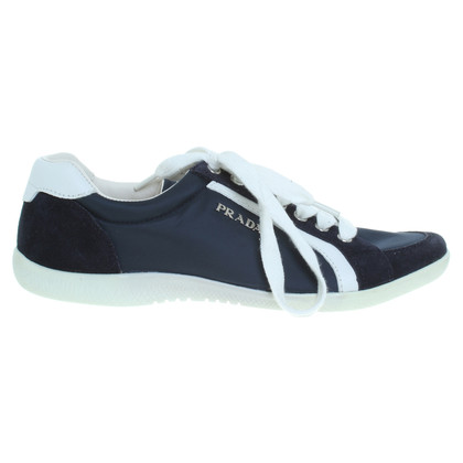 Prada Sneakers in dark blue/white