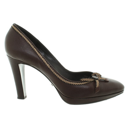 Giorgio Armani pumps in marrone scuro