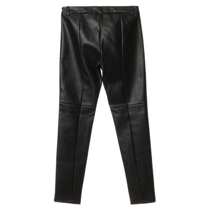 Patrizia Pepe Pantaloni grigi in ottica di cuoio