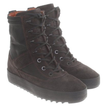 YEEZY Lace-up boots in dark brown