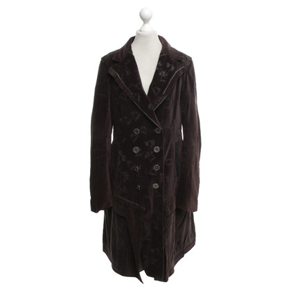 Marithé et Francois Girbaud Coat in velvet look