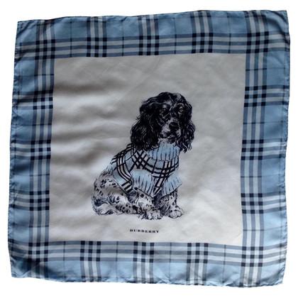 Burberry Burberry écharpe en soie pour chien bleu