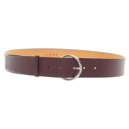 Loewe Leather belt in dark purple