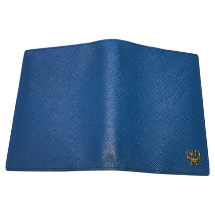 MCM Blue leather wallet