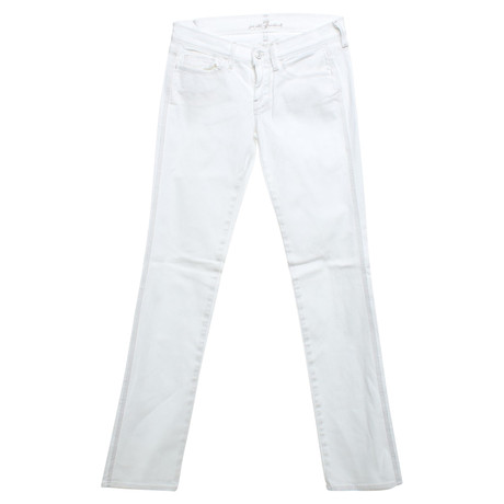 7 For All Mankind Jeans in Weiß Weiß