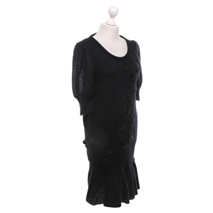 By Malene Birger Strickkleid in Schwarz