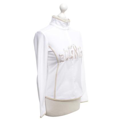 Bogner Fleece shirt in wit / beige