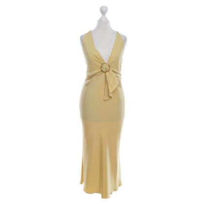Prada Yellow silk dress