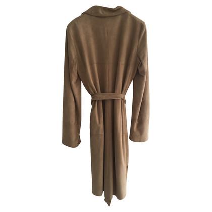 Max Mara manteau de cuir
