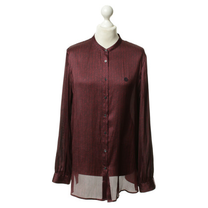 Armani Jeans Patterned blouse in Bordeaux