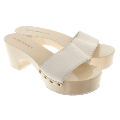 Armani Mules in cream