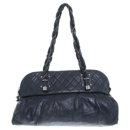 Chanel Leren shopper in zwart