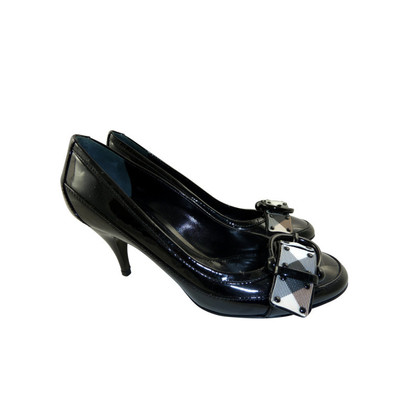 Burberry Patent leather pumps with Burberry check detail