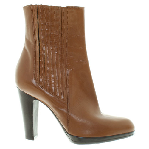 e90030cd2fa Sergio Rossi Ankle boots in brown - Second Hand Sergio Rossi Ankle ...