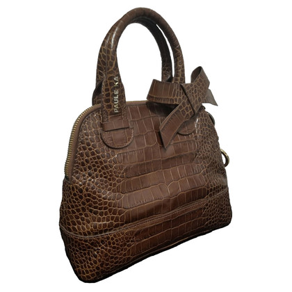 Paule Ka Brown leather handbag