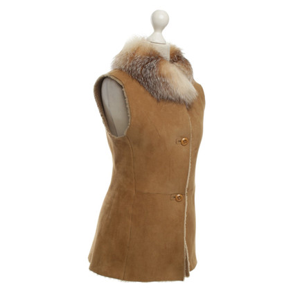 Furry Vest with fur collar