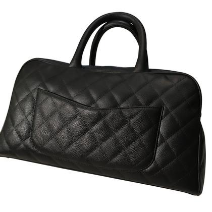 Chanel Zwart leder tas
