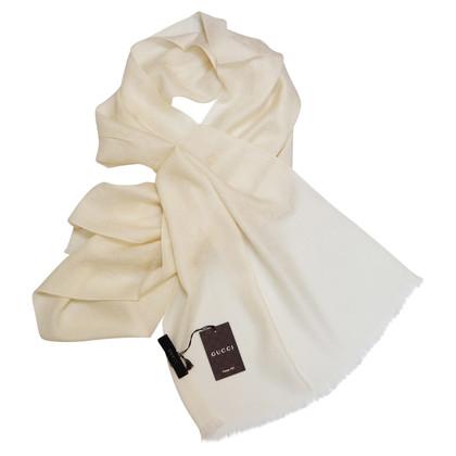 Gucci Cremefarbener Schal
