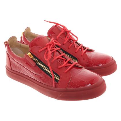 Giuseppe Zanotti Scarpe da ginnastica in rosso