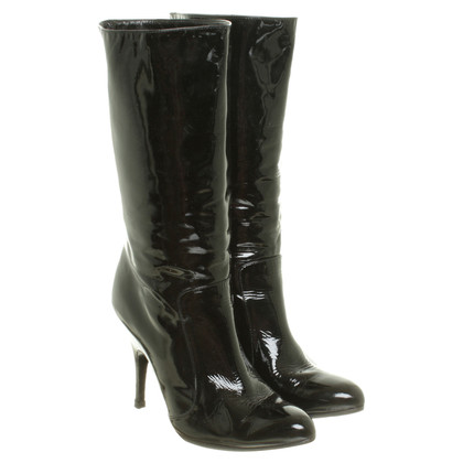 Lanvin Patent leather boots in black