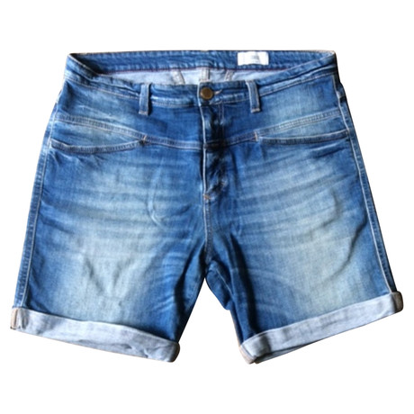Closed Shorts im Used-Look Blau
