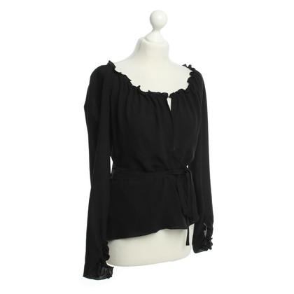 Hugo Boss Wrap-around blouse in black