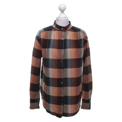Closed Blouse met overhemd en ruitpatroon