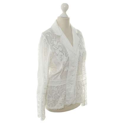 Ella Singh Lace jacket with floral Appliques