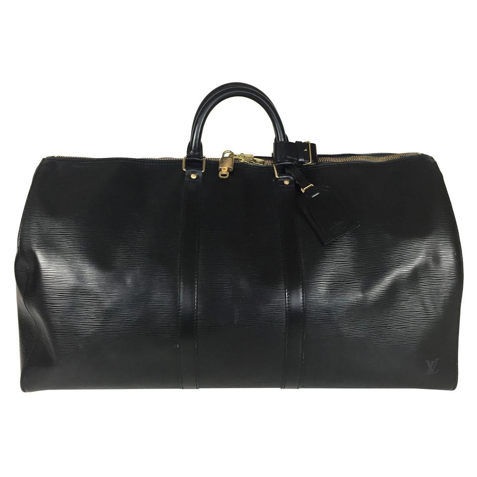 """Louis Vuitton """"Keepall 55 Epi Leather Black"""""""