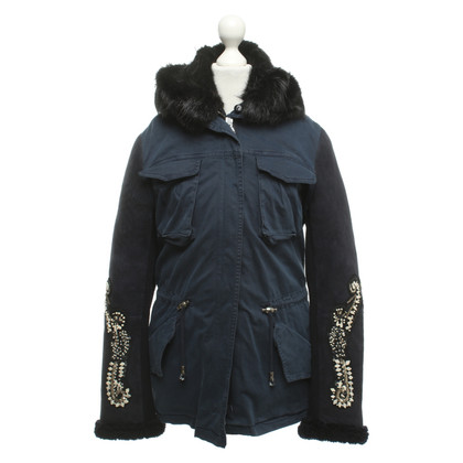 Other Designer Project Foce - coat in dark blue