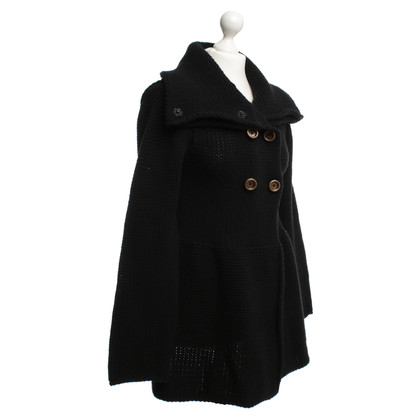Hugo Boss  Knitted coat in black