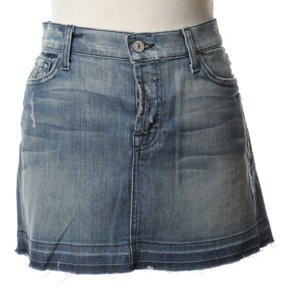 7 For All Mankind Jeans skirt in blue